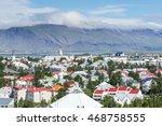 capital of iceland  reykjavik.... | Shutterstock . vector #468758555