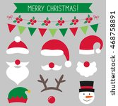 christmas vector set  santa... | Shutterstock .eps vector #468758891