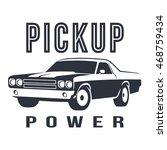 pickup muscle car black logo | Shutterstock .eps vector #468759434