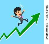 cartoon businesswoman with... | Shutterstock .eps vector #468761981