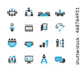business and meeting icons... | Shutterstock .eps vector #468764951
