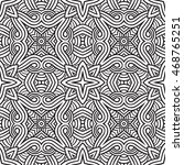 abstract vector tribal ethnic... | Shutterstock .eps vector #468765251