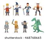 set of medieval fantasy... | Shutterstock .eps vector #468768665