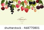 vector berry horizontal border. ... | Shutterstock .eps vector #468770801