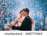 first wedding dance of newlywed | Shutterstock . vector #468774365