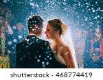 first wedding dance of newlywed | Shutterstock . vector #468774419