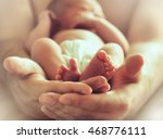 strong male hands holding... | Shutterstock . vector #468776111
