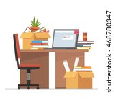office workplace interior... | Shutterstock .eps vector #468780347