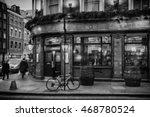 london pub illustration black... | Shutterstock . vector #468780524