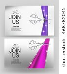 grand opening banners with... | Shutterstock .eps vector #468782045