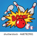 vector old style bowling poster.... | Shutterstock .eps vector #468782981