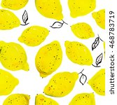 seamless pattern with lemons | Shutterstock . vector #468783719