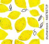 seamless pattern with lemons | Shutterstock . vector #468783719