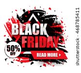 black friday sale with 50  off  ... | Shutterstock .eps vector #468785411