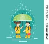 vector illustration of smiling... | Shutterstock .eps vector #468786461