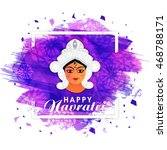 happy navratri background with... | Shutterstock .eps vector #468788171