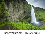 view to waterfall from cave in... | Shutterstock . vector #468797081