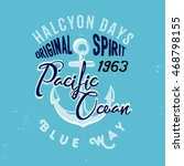 ocean themed shirt print ... | Shutterstock .eps vector #468798155