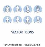 avatar profile icon set... | Shutterstock .eps vector #468803765