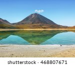 laguna verde is a salt lake at...   Shutterstock . vector #468807671