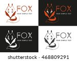 fox logo. black and white and...