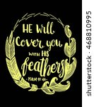 he will cover you with his... | Shutterstock .eps vector #468810995