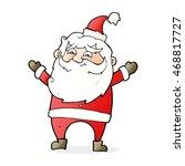 cartoon happy santa claus | Shutterstock . vector #468817727