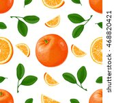 oranges. seamless pattern... | Shutterstock .eps vector #468820421