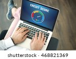 people using laptop and credit... | Shutterstock . vector #468821369