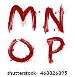 watercolor alphabet vector... | Shutterstock .eps vector #468826895