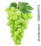 green grapes on the white... | Shutterstock . vector #468829571