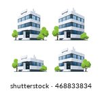 four office vector buildings... | Shutterstock .eps vector #468833834