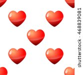valentine day seamless red... | Shutterstock . vector #468839081