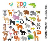 vector collection of zoo... | Shutterstock .eps vector #468839501