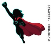 superhero cartoon woman... | Shutterstock .eps vector #468839699
