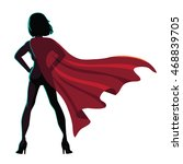 superhero cartoon woman... | Shutterstock .eps vector #468839705