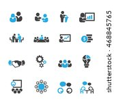 business and meeting icons... | Shutterstock .eps vector #468845765