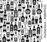 alcohol drinks seamless pattern.... | Shutterstock .eps vector #468849221