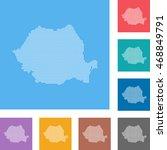 map of romania   Shutterstock .eps vector #468849791