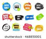 set of flat modern and hand... | Shutterstock .eps vector #468850001