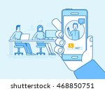vector illustration in flat... | Shutterstock .eps vector #468850751