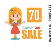 summer discounts   seasonal... | Shutterstock . vector #468852551