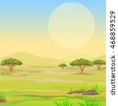 landscape of the african... | Shutterstock .eps vector #468859529