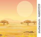 landscape of the african... | Shutterstock .eps vector #468859559