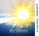 shining sun and cloud.... | Shutterstock .eps vector #468866879