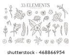 hand drawn flowers collection.... | Shutterstock .eps vector #468866954