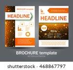 flyer set. brochure design... | Shutterstock .eps vector #468867797