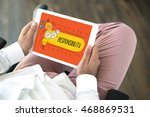 people using tablet pc in... | Shutterstock . vector #468869531