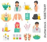 alternative medicine  set of... | Shutterstock .eps vector #468874649