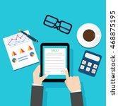 memorandum of understanding mou   Shutterstock .eps vector #468875195
